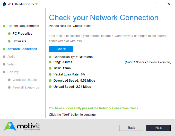 WFH Network Connection